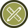 Badge diseño de huerta