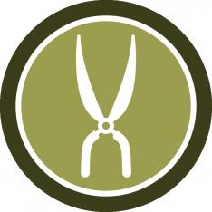 Badge mantenimiento de huertos